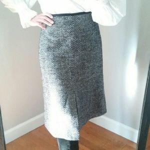 Ann Taylor Tweed Skirt - sexy front slit